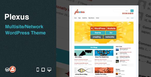 ThemeForest Plexus Multisite Network WordPress Theme 5905127