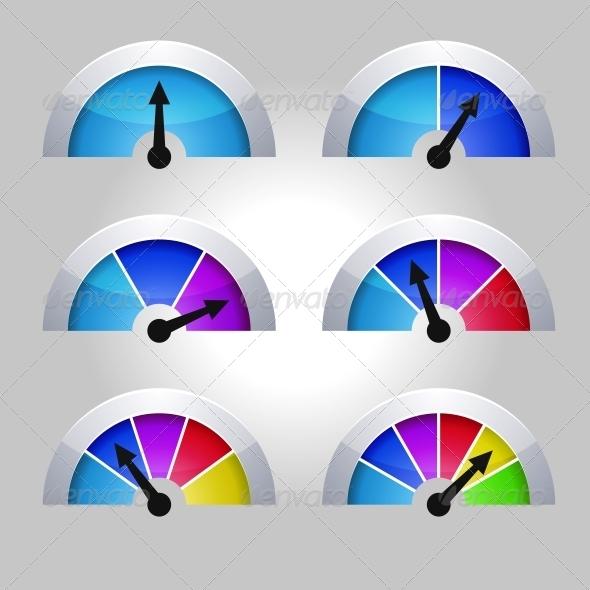 GraphicRiver Set of Indicators Diagram 5922616