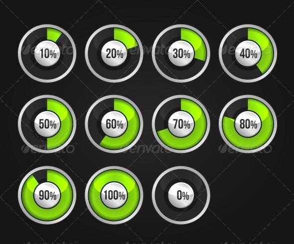 GraphicRiver Set of Progress Indicator Circles 5922617