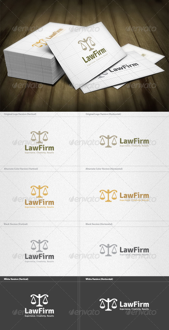 GraphicRiver Law Firm Logo 5922638