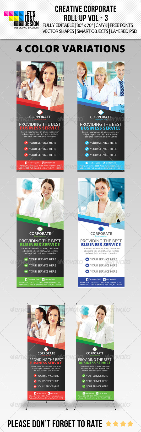 Corporate Roll-Up Banner Vol 3