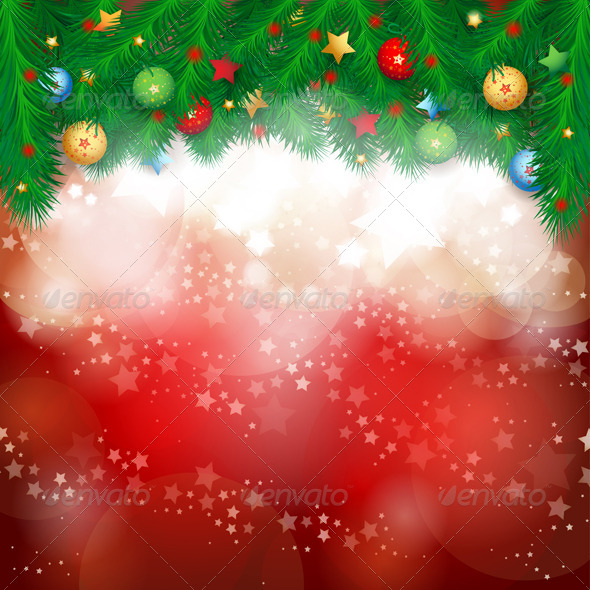 GraphicRiver Christmas Background with Fir Branches 5922767