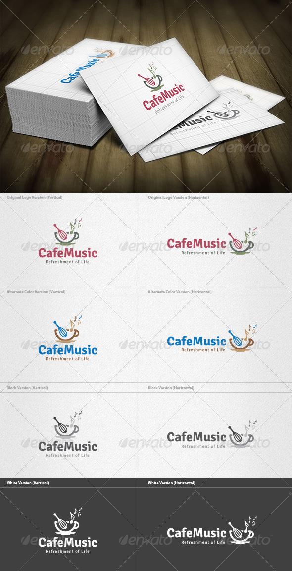 GraphicRiver Cafe Music Logo 5922835