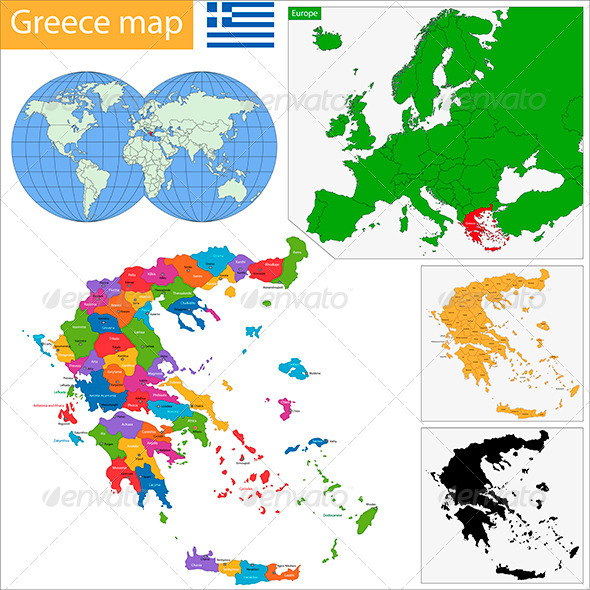 GraphicRiver Greece Map 5922840