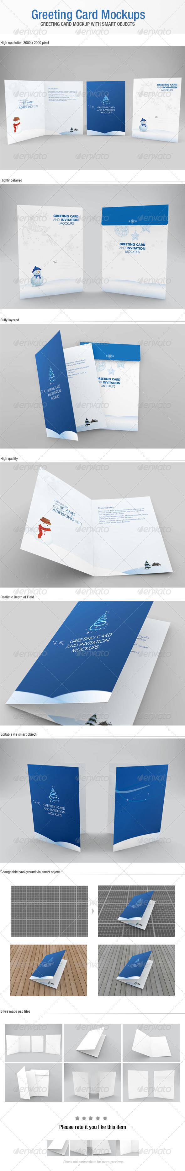 GraphicRiver Greeting Card Mockups 5922841