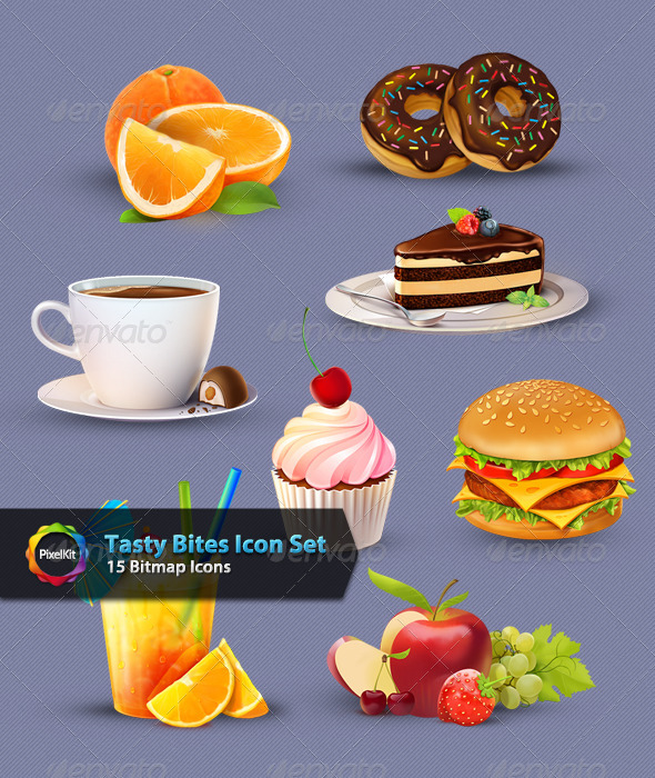 GraphicRiver Tasty Bites Icon Set 5923025