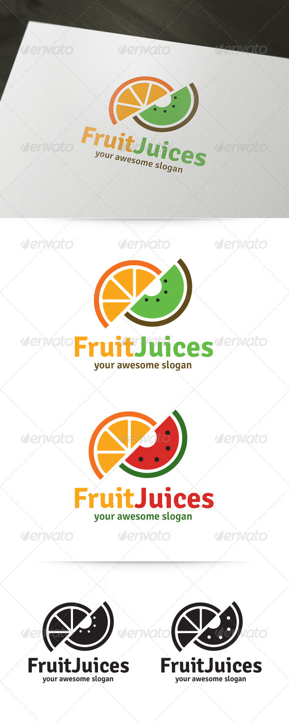 GraphicRiver Fruit Juices Logo Template 5923032