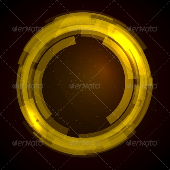 GraphicRiver Abstract Technology Circles Vector Background 5923111