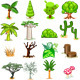 Tree Vector Illustration Collection Pack - GraphicRiver Item for Sale