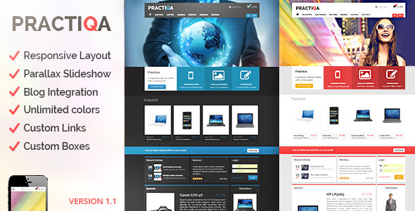 ThemeForest Practiqa Responsive & Customizable Opencart Theme 5904140