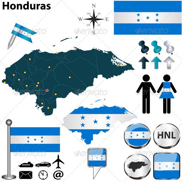 GraphicRiver Map of Honduras 5923190