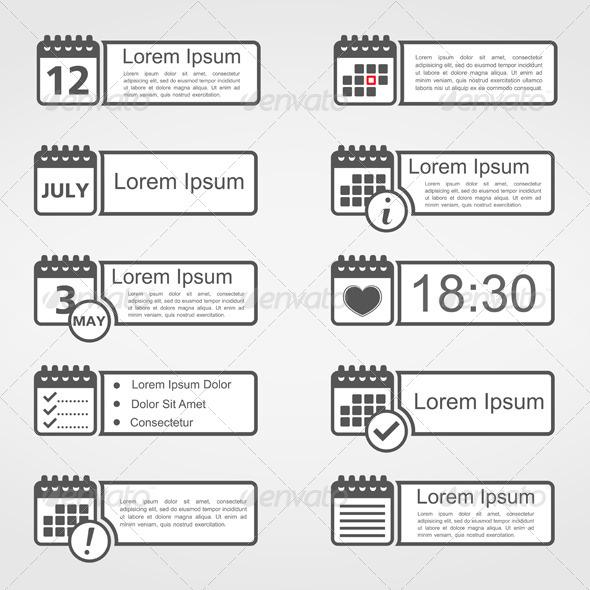 GraphicRiver Calendar Icons 5923266