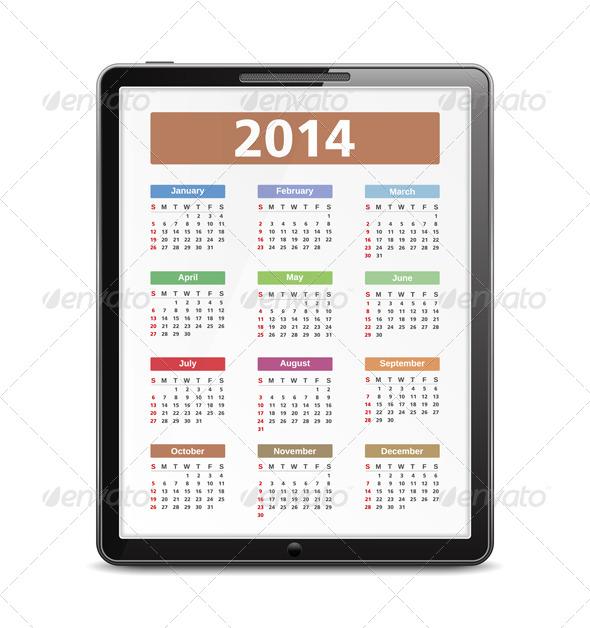 GraphicRiver 2014 Calendar 5923271