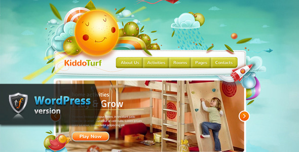 ThemeForest KiddoTurf Kids WordPress Theme 5923281