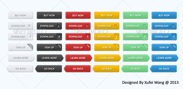 GraphicRiver Useful 36 Web Buttons 5911655