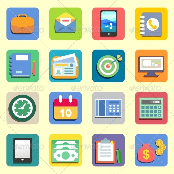 GraphicRiver Business Flat Icons 5923351