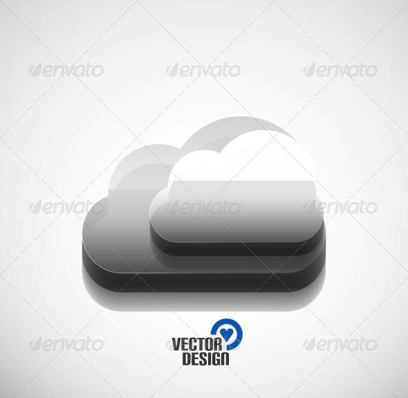 GraphicRiver 3D Cloud Computing Concept Icon 5923403