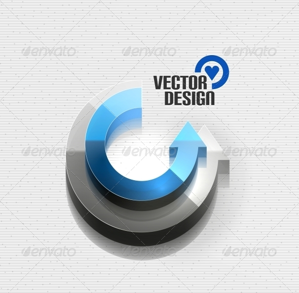 GraphicRiver 3D Glossy Arrow Circle Concept 5923417