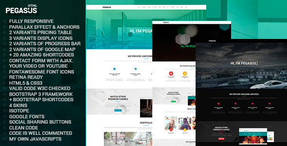 Pegasus Parallax One-Page HTML5 - Business Corporate