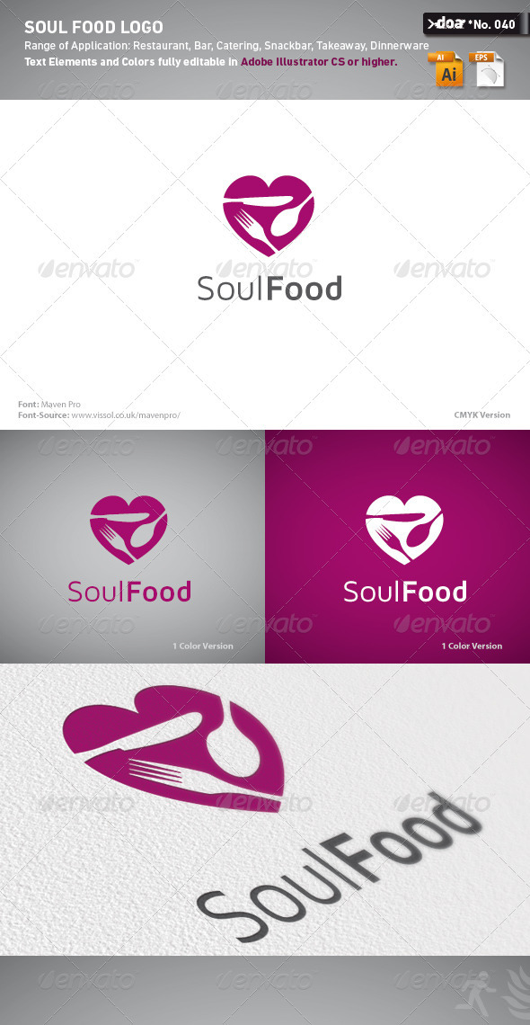 Soul Food Logo Template - Symbols Logo Templates