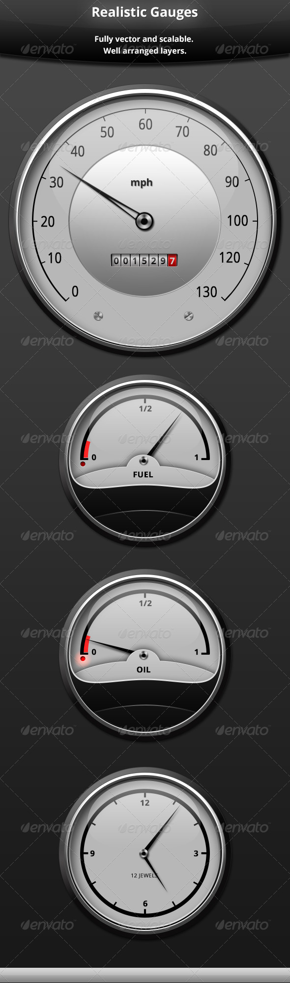 GraphicRiver Realistic Gauges 5923549