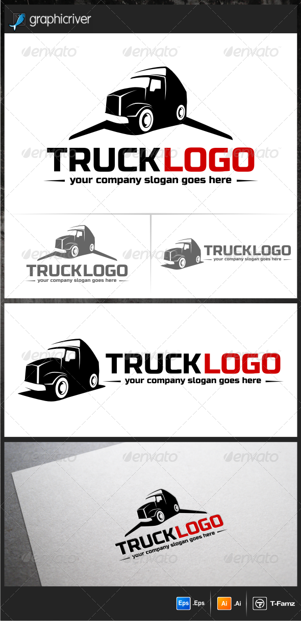 GraphicRiver Work Truck Logo Templates 5923608