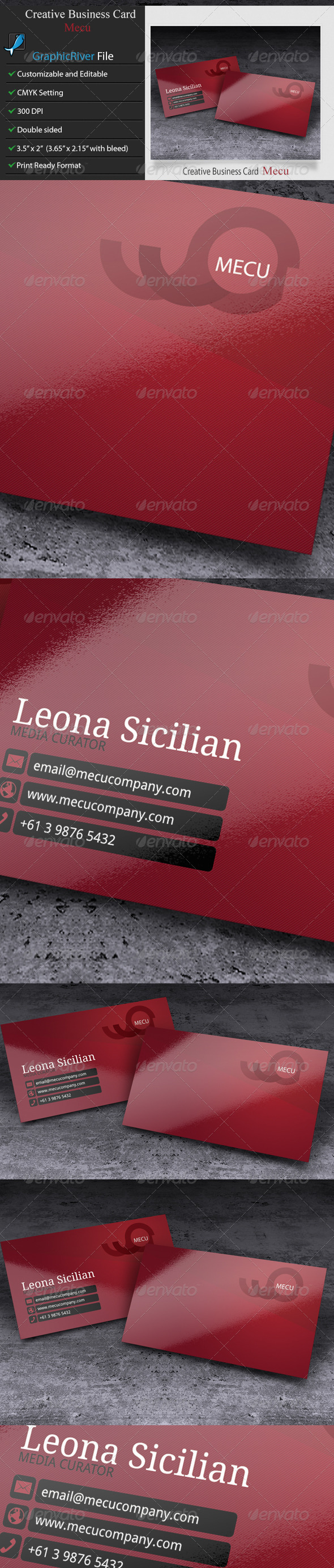 GraphicRiver Creative Business Card Mecu 5923645