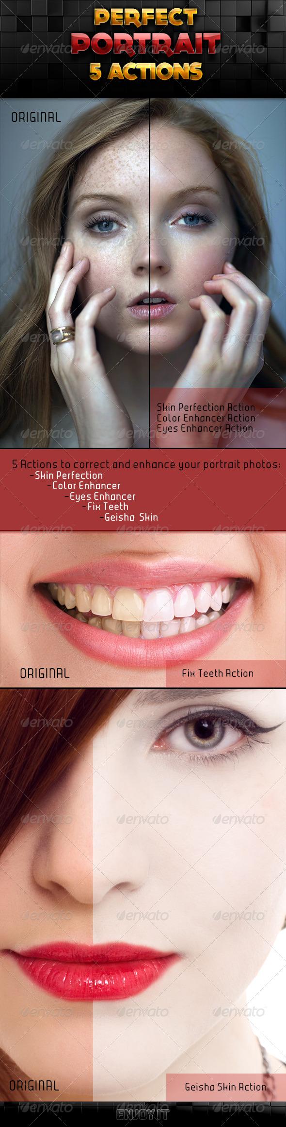 GraphicRiver Perfect Portrait Actions Set 5923894