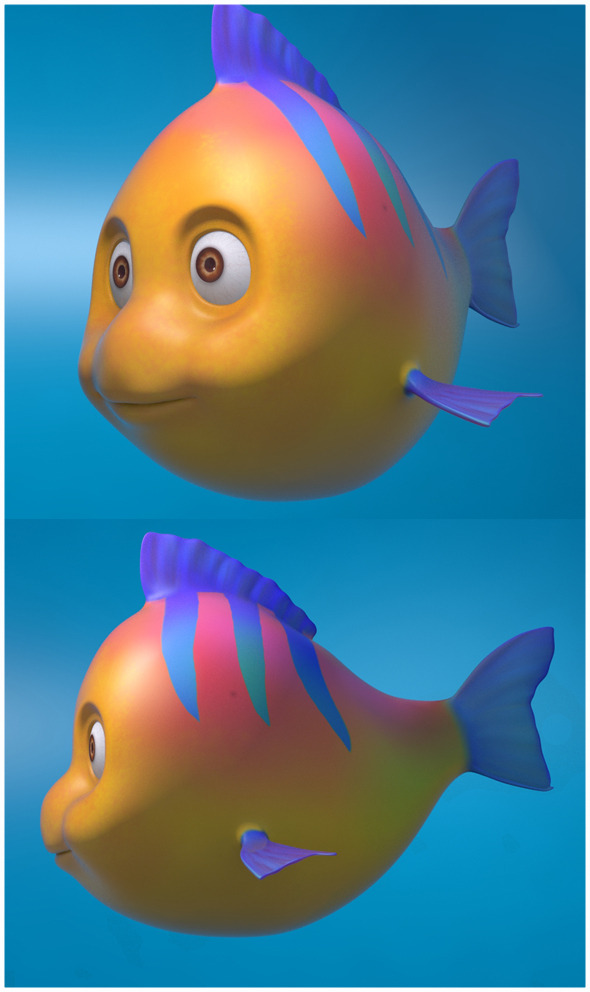 Fish Cartoon Model - 3DOcean Item for Sale