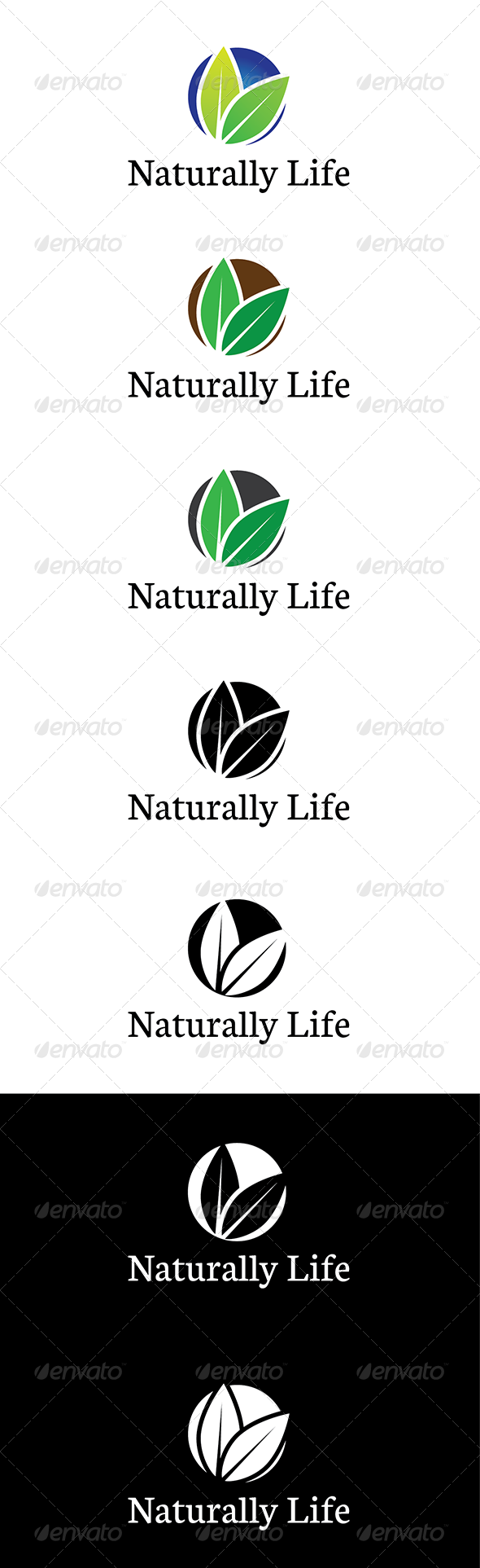 GraphicRiver Naturally Life Logo 5924250