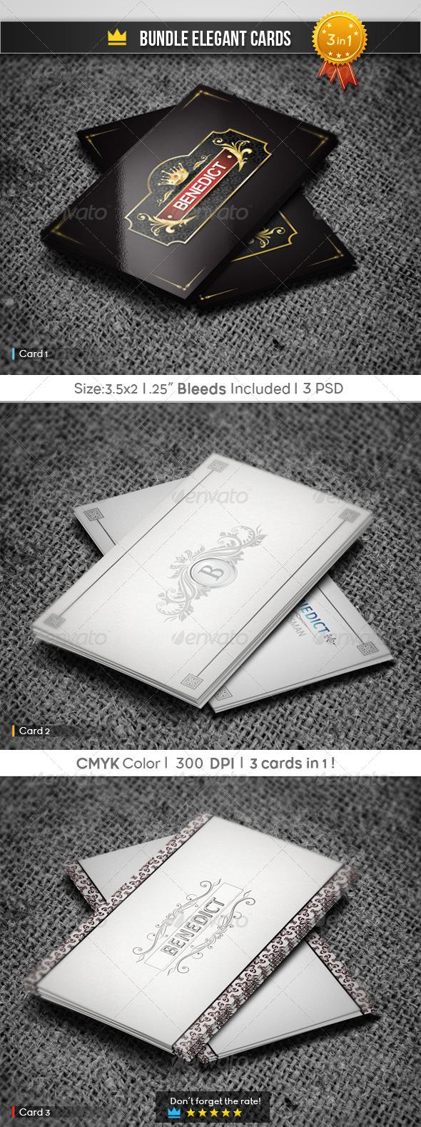 GraphicRiver Bundle Elegant Cards 5895508