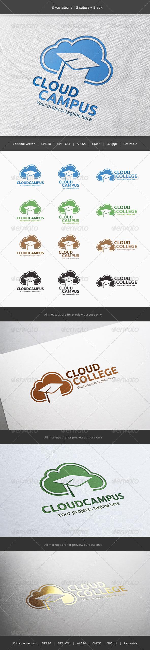 GraphicRiver Cloud Campus Logo 5924409
