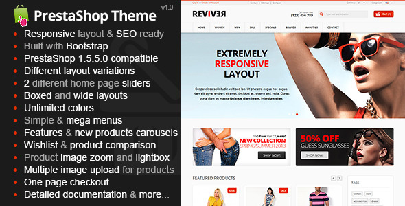 ThemeForest Reviver Responsive Multipurpose PrestaShop Theme 5896715