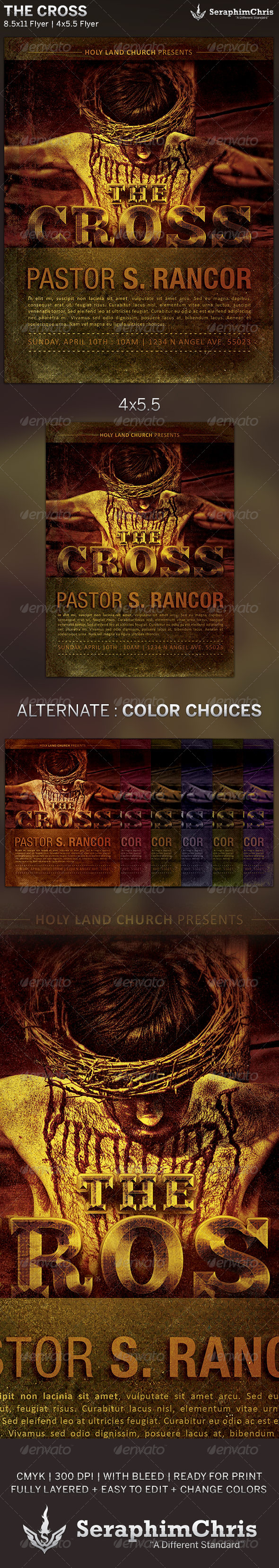 GraphicRiver The Cross Church Flyer Template 5924673