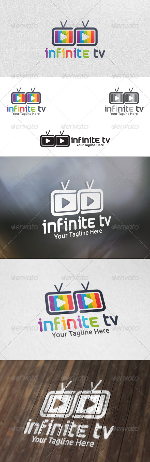 GraphicRiver Infinite TV Logo Template 5924750