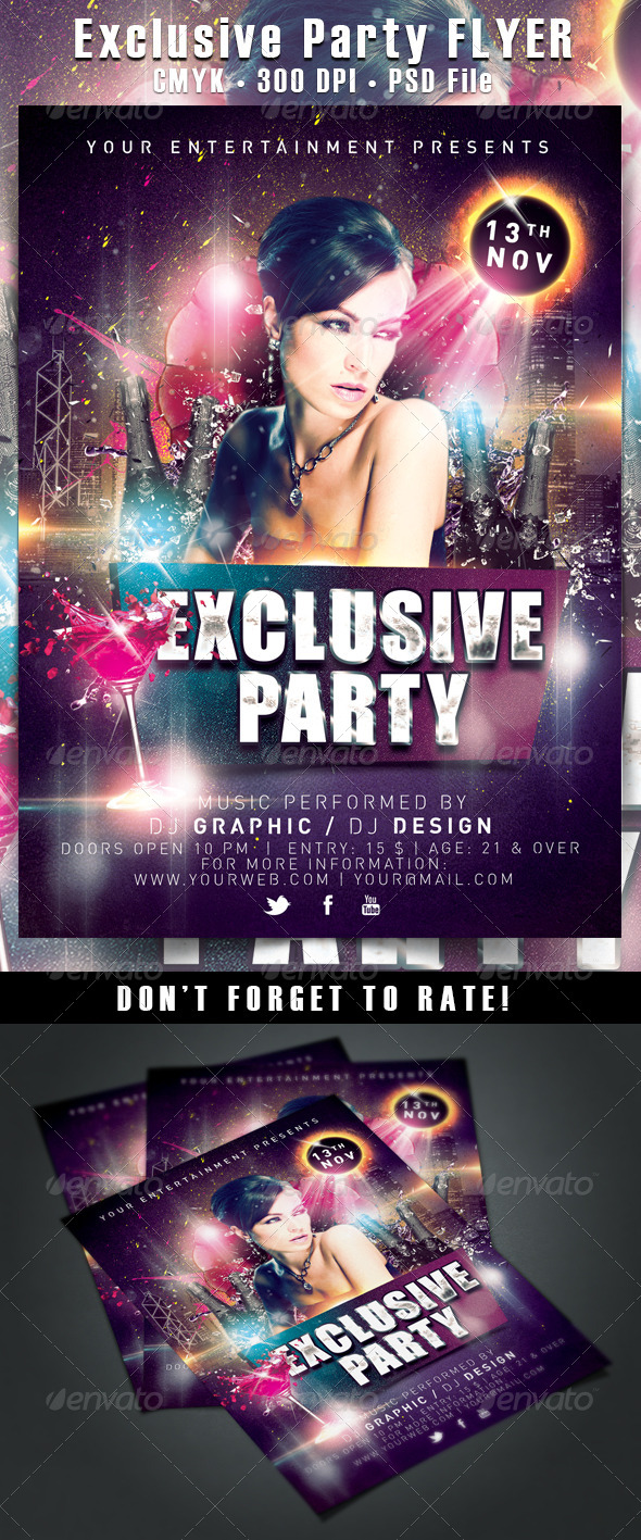 GraphicRiver Exclusive Party Flyer 5924819