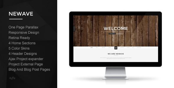 Newave - Responsive One Page Parallax Template - Creative Site Templates