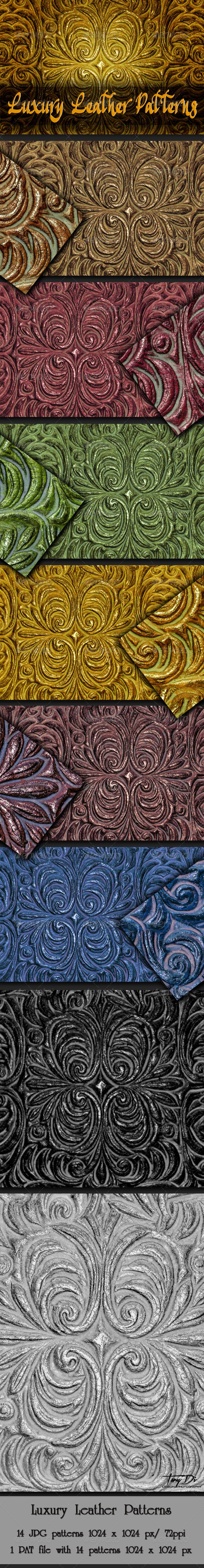 GraphicRiver Luxury Decorative Leather Patterns 5925255