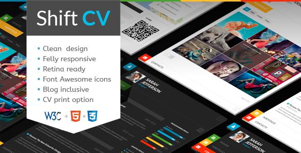 ThemeForest ShiftCV Blog & Resume & Portfolio 5925341