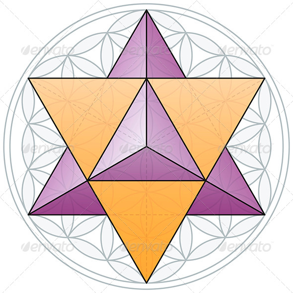 GraphicRiver Merkaba and Flower of Life 5926252