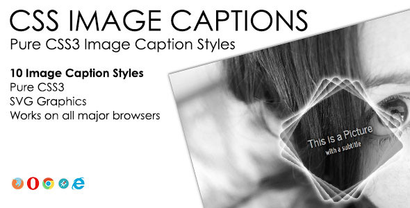 CSS Image Captions Pack