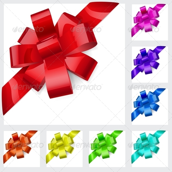 GraphicRiver Multicolored Bows of Ribbons 5926736