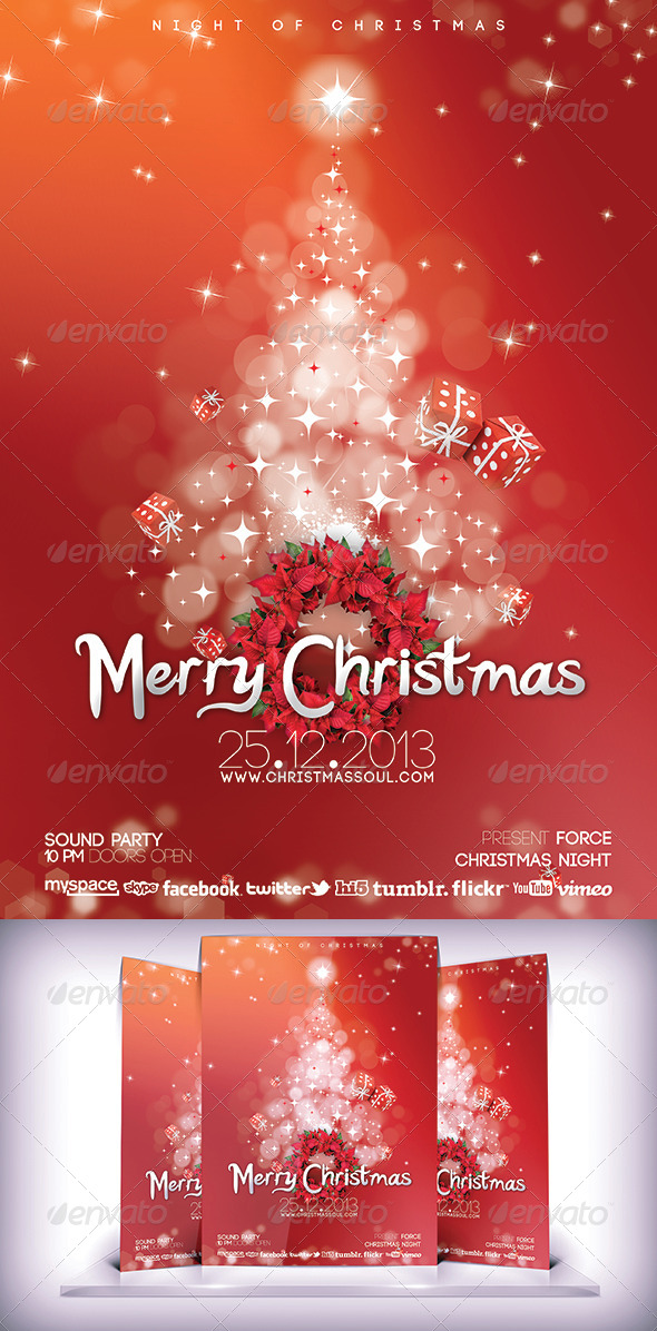 Christmas Soul Flyer - Flyers Print Templates