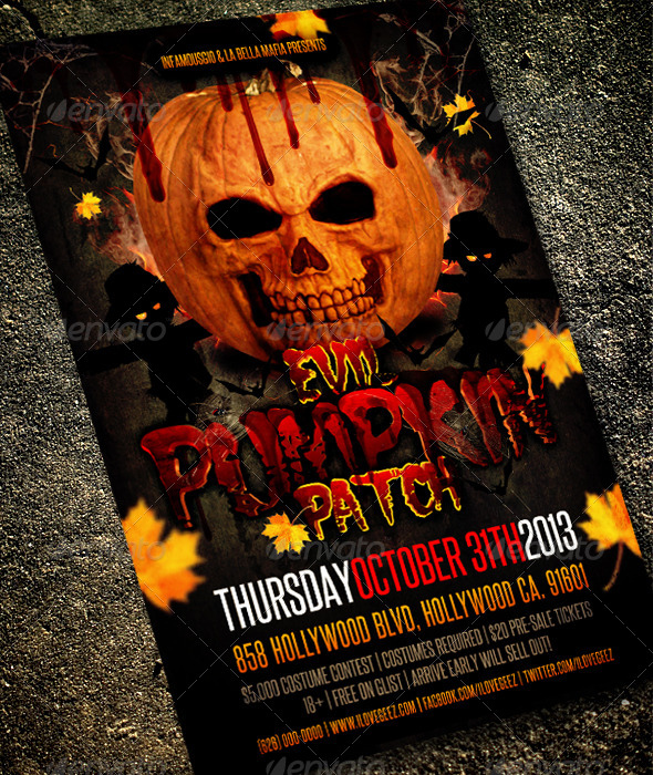 GraphicRiver Evil Pumpkin Patch 5891811