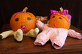 Pumpkin Babies in Onesies Wide Angle - PhotoDune Item for Sale