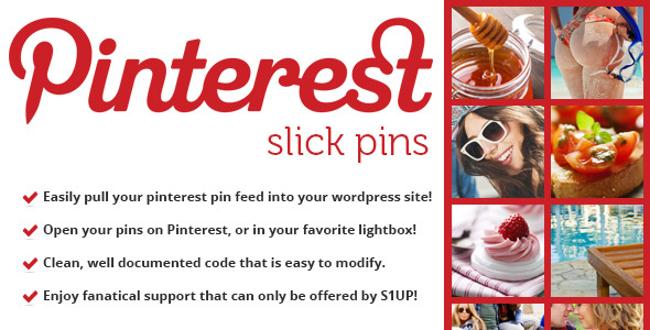 CodeCanyon Slick Pins Pinterest Feed Widget 5898481