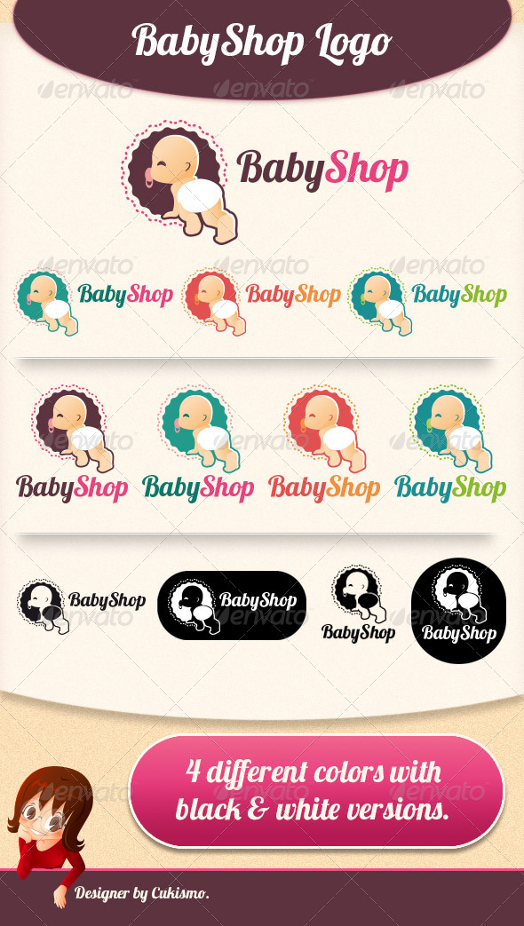 GraphicRiver Baby Shop Logo 5919516