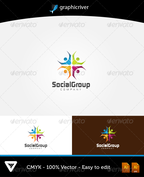 GraphicRiver Social Group Logo 5927658