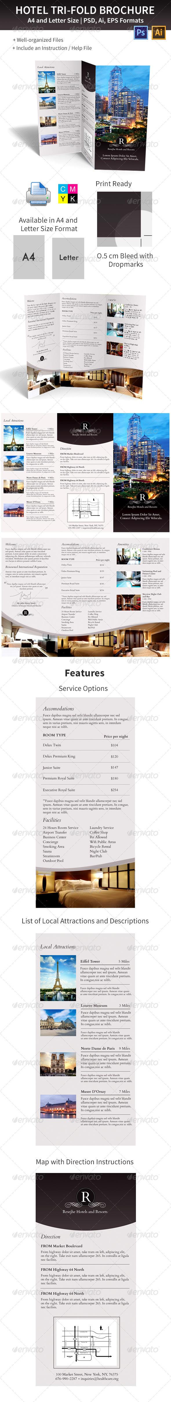 GraphicRiver Hotel Trifold Brochure 5927700
