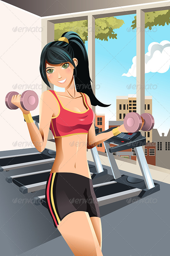 GraphicRiver Girl Exercising 5927853